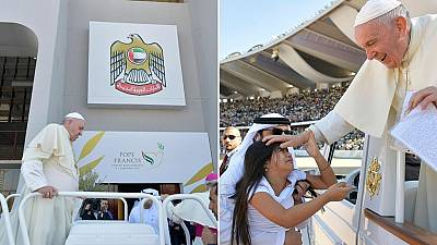 Photos: Pope in UAE, inter-faith meeting, historic mass in Arabian peninsula