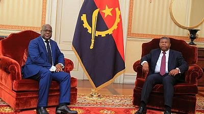 Félix Tshisekedi débute en Angola sa première visite régionale