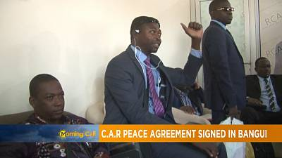 C.A.R peace agreement signed in Bangui [The Morning Call]