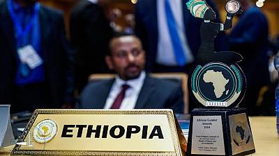 Ethiopia PM bags 2018 African Gender Awards plaque