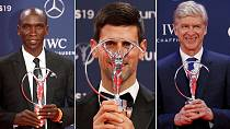 Kenya's Kipchoge, Wenger, Djokovic win big at 2019 Laureus awards