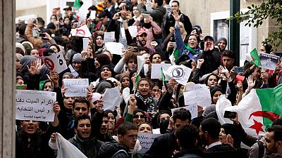 Les étudiants algériens contre un 5ème mandat de Bouteflika