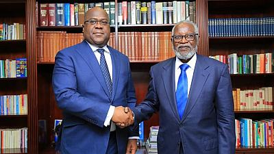 Photos: DRC president visits Namibia's first president, Sam Nujoma