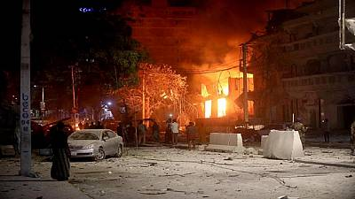 Auto  bomb explosion outside hotel in Somalia