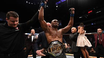 Nigeria's Kamaru Usman wins historic UFC title
