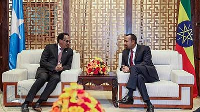 Somali president in Addis Ababa for talks with Ethiopia PM