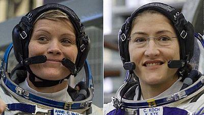 Pour la première fois de l'histoire, deux femmes astronautes dans l'espace