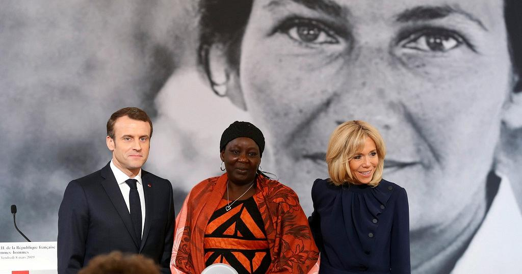 Bildergebnis für Cameroonian Activist Awarded First Women's Rights Prize by President Macron