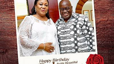 'I love you': Ghana president's birthday message to wife