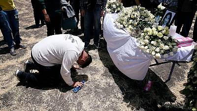 Grieving families weep for relatives at Ethiopia crash site