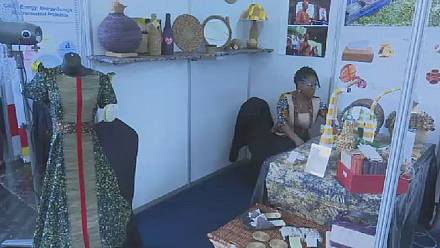 Nigerian entrepreneur makes handcrafts from water hyacinth