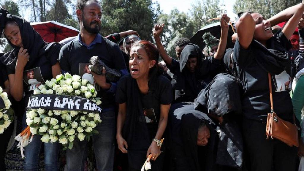 Ethiopian Crash Point: Funeral Ceremony in Addis Ababa [Photos]