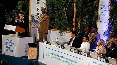 Macron, Kenyatta address UN Environment meeting in Kenya