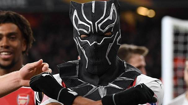 Aubameyang 'visits' Wakanda with Black Panther mask in Arsenal win