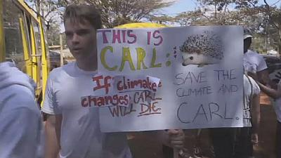 Kenyan students march for climate action in Nairobi