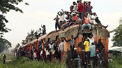 About 32 killed as train derails in DRC's Kasai region