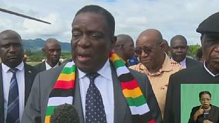 Zimbabwe's president visits flooded area after deadly cyclone