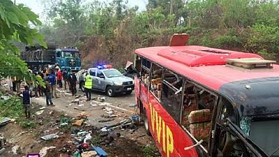 Ghana bus crash: Dozens killed after two buses collide in Bono East