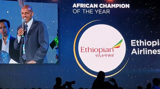 Ethiopian Airlines hailed as 'African Champion of the Year'