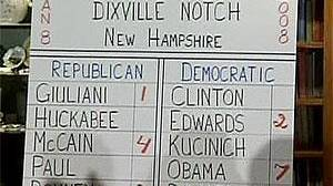 First votes already counted in New Hampshire