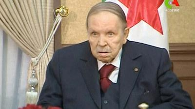 Algerians celebrate after president resigns