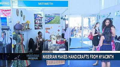 Nigerian makes handicrafts from hyacinth [Business Africa]