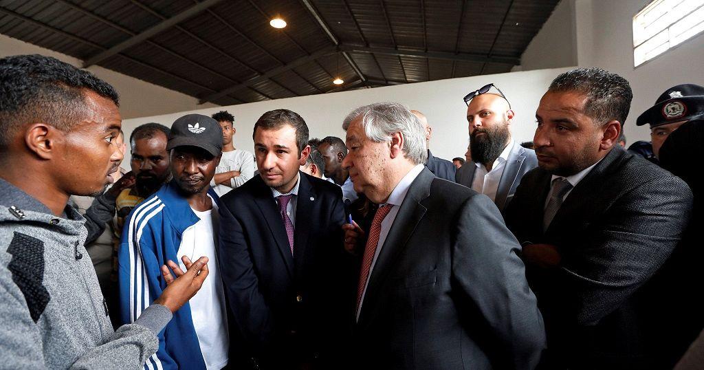 UN boss visits migrants detention centre in Libya