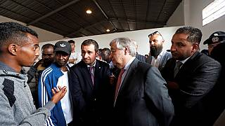 UN boss visits migrants detention centre in Libya