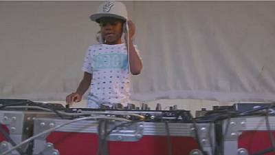 Six year old dj thrills Johannesburg crowd
