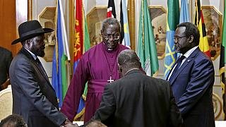Pope meets South Sudan politicians