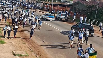 Gabonese students take to streets to demand scholarships