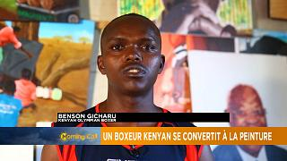 Retired Kenyan boxing champion turns to painting