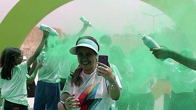"""La """"course des couleurs"""" atteint l'Égypte"""