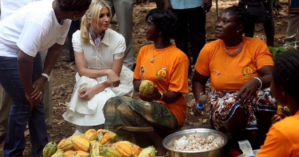 Ivanka Trump in Ivory Coast: Meets VP, visits cocoa farm