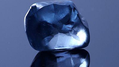 Botswana : découverte d'un rare diamant bleu de 20 carats