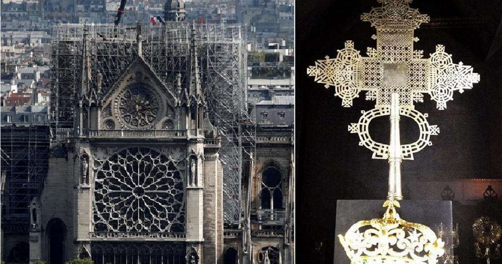 Ethiopian cross offered by Haile Selassie survives Notre-Dame fire