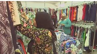 Egyptian store sells clothes by the kilo, easing financial woes