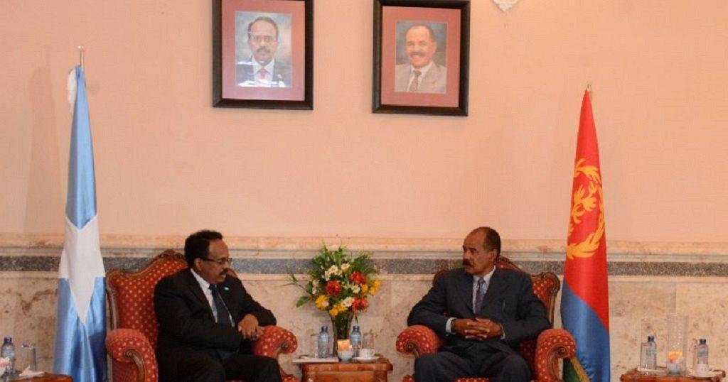 Somali president meets Eritrean counterpart on trip to Asmara