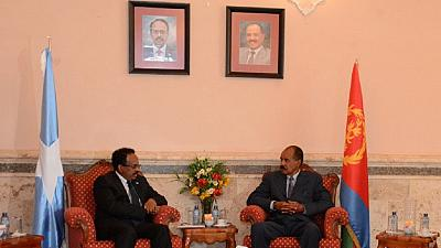 Somali president meets Eritrean counterpart on trip to Asmara