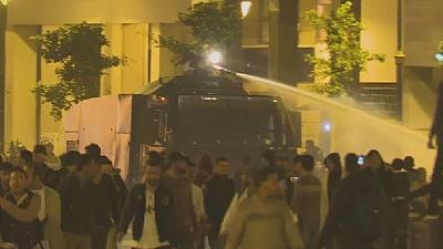 Moroccan police disperse protesting teachers with water cannons