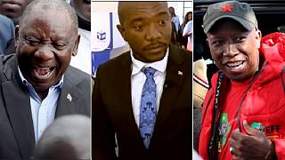 South Africa election: main candidates cast votes