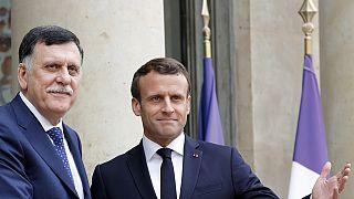 Macron meets with Libyan leader Fayez Al-Sarraj in Paris