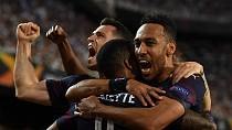Aubameyang hat trick helps Arsenal qualify for Europa League final