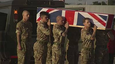 Video: Body of British soldier killed in Malawi flown home