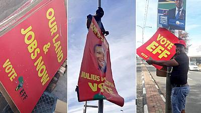 South Africa's EFF post-poll campaign: Removing all posters
