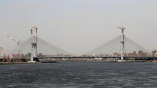 Egypt opens world's widest suspension bridge