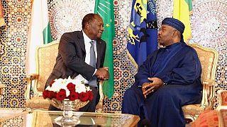 Le président Bongo reçoit son homologue ivoirien à Libreville