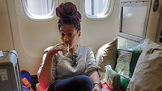 Eritrea's Tiffany Haddish boards Ethiopian on return to Asmara
