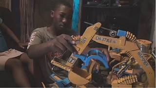 Cameroon's amateur engineer builds miniature bulldozers from recycled materials
