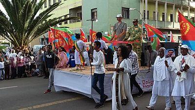 Eritrea Independence carnival: Parade, camels, Abiy-Afwerki mannequin